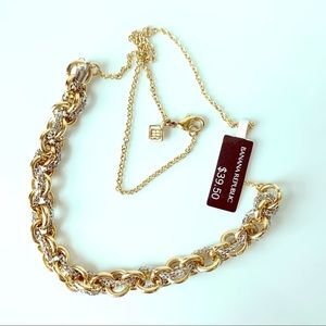 Gold & Silver Tone Rope Chain Necklace BR